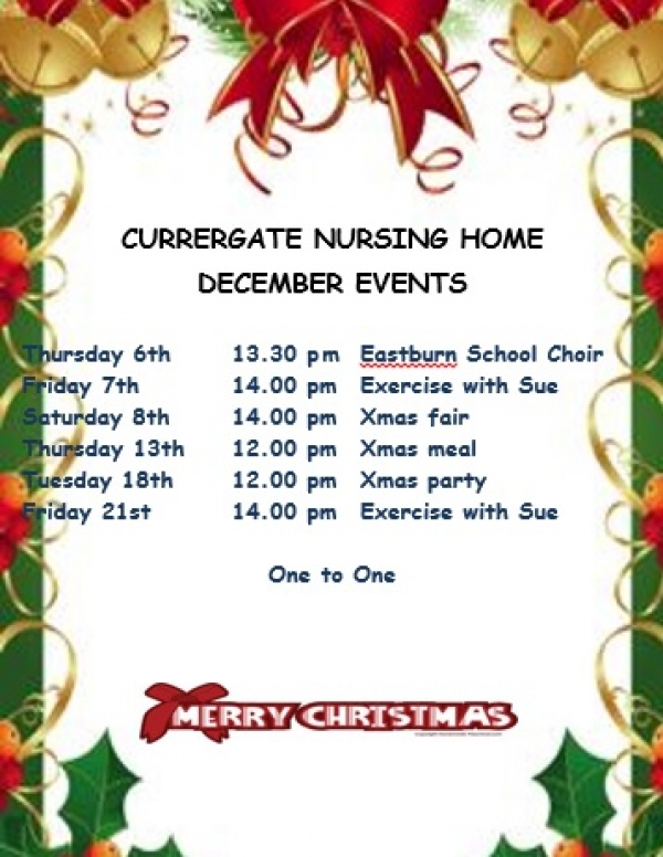 Six December events that you won't want to miss at Currergate Nursing Home in Steeton