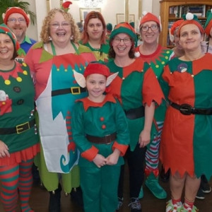 Fundraising elves give dementia charity a boost