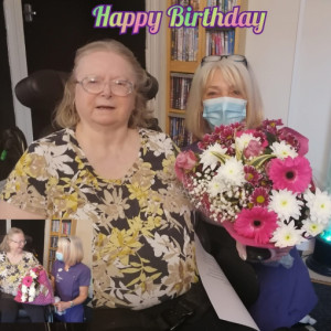 Birthday fun for Rita at Staveley Birkleas Nursing Home