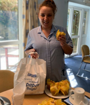 Hardworking care teams receive tasty treats from local companies