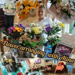 Flower arranging workshop blooms at Staveley Birkleas specialist home