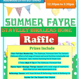 Raffle prizes revealed for Staveley Birkleas Summer Fayre