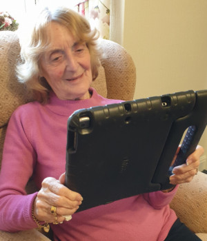 Virtual visits are a big hit with our residents